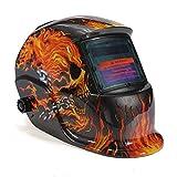 Gary&Ghost Solar Schweißmaske Schweißhelm Automatik Schweißschirm Schweißschild (Skull)