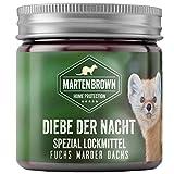 Martenbrown® Lockmittel [250ml] Gel für Marder, Fuchs, Dachs, Waschbär Duftstoff Lockstoff Köder Marderlockmittel, Marderfalle Köder