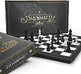 AGREATLIFE Magnetisches Schachspiel zum Mitnehmen - Schachbrett magnetisch - Magnetschachspiel leicht und kompakt - Reise Schachspiel magnetisch klein und einklappbar - Chess Board 24x24cm Schachset