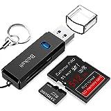 USB 3.0 Kartenleser, Beikell Highspeed SD/Micro SD Kartenlesegerät - Unterstützt SD / Micro SD / TF / SDHC / SDXC / MMC - kompatibel mit Windows/Mac/OS usw.
