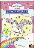 Mein Glitzer-Sticker-Malbuch. Zauberhafte Pferde