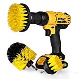 Swonuk Drill Brush, 3pcs bohrmaschine bürstenaufsatz 2' 3' 4' Power Scrubbing Auto Bürste für Auto, Teppich, Badezimmer, Holzboden, Waschküche,Küche