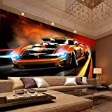 Fototapete Wandbild Wandbilder Wohnzimmer Fernseher Sofa Hintergrund Tapete Moderne Wohnkultur Zimmer 3D Auto Poster 200Cm X 150Cm