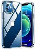 TORRAS Diamond Series für iPhone 12 Mini Hülle (Vergilbungsfrei) Durchsichtig Case Starke Stoßfestigkeit Schutzhülle Hard PC Back und Soft Silikon Bumper Handyhülle für iPhone 12 Mini - Transparent