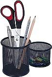 Wedo 65401 Stifteköcher Office (Drahtmetall) 2 Stück, schwarz