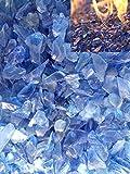Firebrand Direct Blaues Feuerglas, 1 kg, für Feuerstellen, Gas- und Ethanol-Brenner, Hitzebeständiges Glas