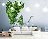 fototapete 3d effekt wand dekoration vlies Fototapete Design Tapete moderne wanddeko bilder Wandbilder wohnzimmer 400x280cm Kunstgemüse Fisch