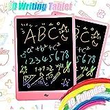 TEKFUN LCD schreibtafel 10 Zoll, buntes magnetisches maltafel zaubertafel, Löschbar und wiederverwendbar schreibtafel, Spielzeug ab 3 Jahre,kinderspiele,Geschenk mädchen,Lehrmittel für Kinder (Pink)