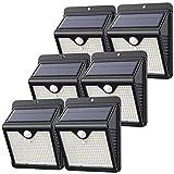 【6 Stück/150 LED】 Solarlampen für Außen, Feob Solarlampe Bewegungsmelder Solarleuchte Sicherheitsleuchten - [Powerful - Wasserdicht, Intelligent PIR-Bewegungssensor] Wandleuchte -2000mAh/1000LM