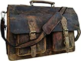 16 Zoll Laptop Tasche Männer Umhängetaschen Herren Arbeitstaschen Aktentasche Ledertasche Messenger Bag Notebooktasche Schultertaschen Grau