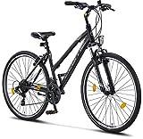 Licorne Bike Life-L-V (Schwarz/Grau) 28 Zoll Cross, Trekking, Mountainbike, MTB, geeignet ab 150 cm, Shimano 21 Gang-Schaltung, Gabelfederung, Jungen-Fahrrad & Herren-Fahrrad, Männerfahrrad, ATB, CTB