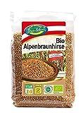 Bio-leben österreichische Bio Braunhirse ganz, ungeschält, glutenfrei 2,4 kg gentechnikfreie Vollkorn Hirse, Rohkost, extra gereinigt und stechapfelfrei, aus Österreich 6x400g