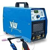 AC DC WIG Schweißgerät 200 Amp - Elektroden Schweissgerät mit 180 Amp Plasmaschneider 50 Amp | HF-Zündung - 2 und 4 Takt - Einstellbare Schweißparameter - ACDC WIG Plasma 200 - von Vector Welding