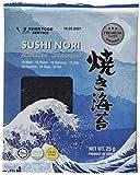 ASIAN FOOD SERVICE Seetang, geröstet, für Sushi ganzes Blatt, Nori Silber, 4er Pack (4 x 25 g)