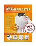 Happyplast® Wärmepflaster im 10er Set - dermatologisch getestet, selbstheizend & selbstklebend - wärmt bis zu 12 Stunden - hilft bei Muskelverspannungen, Zerrungen oder Regelschmerzen