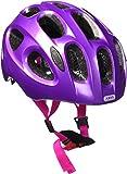 ABUS Youn-I Kinderhelm - Fahrradhelm für Kinder mit LED-Rücklicht für den Alltag - für Mädchen und Jungen - 12862 - Lila (funkelnd), Größe S