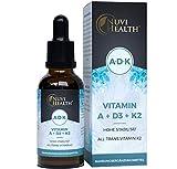 Vitamin A + D3 + K2 Tropfen - 50 ML - Premium: 99,7+% All-Trans (K2VITAL® von Kappa) + hoch bioverfügbares Vitamin D3 + A (Retinol) - Flüssig - Laborgeprüfte Qualität