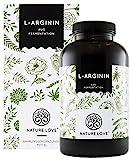 NATURE LOVE L-Arginin - Vergleichssieger 2019* - 365 vegane Kapseln. Hochdosiert: 4500mg L-Arginin HCL (=3750mg reines L-Arginin) je Tagesdosis. Pflanzliche Fermentation. Hergestellt in Deutschland