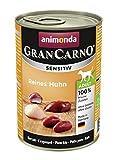 animonda GranCarno Hundefutter Adult Sensitiv, Nassfutter für ausgewachsene Hunde, Reines Huhn , 6 x 400 g
