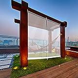 HYDT Store en bambou Gartenterrasse im Freien Klare Rollläden, Wasserdicht Staubdicht Transparente PVC-Kunststoff-Jalousien für Balkon Gewächshaus (Size : 80×120cm(31.5 in×47.2 in))