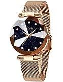 CIVO Damen Uhren Wasserdicht Silm Minimalistisch Rose Gold Damenuhr mit Edelstahl Mesh Armband Mode Kleid Elegant Beiläufig Quarzuhr für Frau Lady Teenager Mädchen (1 Rose/Blau)