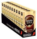 NESCAFÉ GOLD Original, löslicher Bohnenkaffee aus erlesenen Kaffeebohnen, koffeinhaltiges Instant-Pulver, vollmundig & aromatisch, 10er Pack (à 10 x 2 g Sticks)