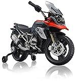 ROLLPLAY Premium Elektro-Motorrad, Für Kinder ab 3 Jahren, Bis max. 35 kg, 12-Volt-Akku, Bis zu 5 km/h, BMW R1200 GS Motorcycle, Rot