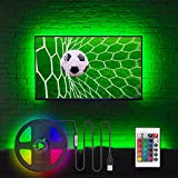LED TV Hintergrundbeleuchtung für 32-60 Zoll Fernseher Beleuchtung TV Stimmungslicht mit IR Fernbedienung, 20 Farben, USB LED Streifen