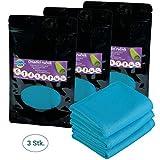 Home Point Kühlendes Handtuch - 3er Set blau 70 x 30 cm Mikrofaser Handtuch - Sporthandtuch Kühlhandtuch - kühlt 2-4 Stunden - Kühltuch für Outdoor Fitness Sport Tennis Fußball Sonnenbad