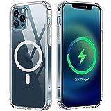 """iGuard Case kompatibel für MagSafe Apple iPhone 12 Mini 5,4"""" Wallet Magnetisches Case mit Magnete Card Holder Case MAG Safe Transparent klar Edge + Protection"""