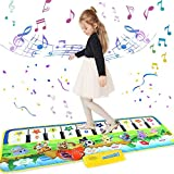 Klaviermatte, KARLOR Musikmatte Tanzmatten Piano Mat Keyboard Matten Tanzteppich mit 10 Klaviertasten 8 Instrumente (100 X 36 cm)