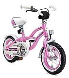 BIKESTAR Premium Sicherheits Kinderfahrrad 12 Zoll für Mädchen ab 3 - 4 Jahre | 12er Kinderrad Cruiser | Fahrrad für Kinder Pink