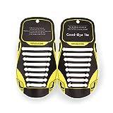 MAROL Elastische Silikon Schnürsenkel – Ohne Binden – Silikonschnürsenkel – Schnürsenkelersatz, Schleifenlose Schuhbänder – Gummischnürsenkel für alle Schuhe – Kinder & Erwachsene (Weiß)