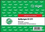 SIGEL SD022 Quittungsblock A6 quer, 2x40 Blatt, selbstdurchschreibend, 1 Stück