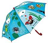 moses. Krabbelkäfer Regenschirm Bunte Tropfen , Schirm für Kinder im farbenfrohen Design , Ø 72 cm