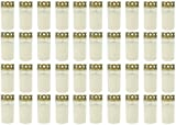 Beste Choice Grablicht Brenner Nr. 3 Weiss mit Deckel | Grabkerzen | Friedhofskerzen | Grablichtkerze | Trauerlicht | Gedenkkerze | Grabdekoration | Grabdeko (40er Pack)