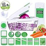 Uvistare Gemüseschneider Spiralschneider, Vielseitiger Gemüsehobel Kartoffelschneider Obstschneider, Praktischer Küchenhelfer mit Schnittschutz-Handschuh, Ideal für das tägliche Kochen