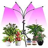 FREDI Pflanzenlampe LED 40W 4 Heads Pflanzenlicht Pflanzenleuchte Wachstumslampe mit Ständer Vollspektrum für Zimmerpflanzen mit Zeitschaltuhr, 3 Arten von Modus, 6 Arten von Helligkeit