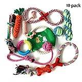 Nifogo Hundespielzeug Set,Interaktives Welpenspielzeug Pet Rope Spielzeug für Kleine mittlere große Hunde (10 Stück)