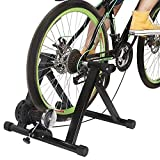Melko Fahrrad Rollentrainer inkl. 6 Gang Schaltung Fahrradrollentrainer Indoor für 26-28 Zoll Heimtrainer bis zu 150 kg belastbar, magnetisch