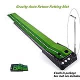 Locisne Modernisiert Innen und im Freien Golf Putting Matte Putting Trainer mit Automatischer Ball-Rücklauf für Golf Professional tragbar Mini Golf Praxis Set 11.81'*118.11' +6 Golfbälle