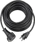 Brennenstuhl Qualitäts-Gummi-Verlängerungskabel 5m (IP44, Kabel für außen) schwarz