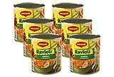 MAGGI Gemüse-Ravioli in Tomatensauce: Teigtaschen in fruchtiger Sauce, vegetarisches Fertiggericht, leckeres Camping-Essen, 6er Pack (6 x 800 g)