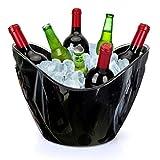 Yobansa 8L Eimer Champagner Eimer,EIS Eimer,Weinkühler Sektkühler,Acryl große Eiskübel, Küchenobst und Gemüse Vorratsbehälter Behälter (Black 01)