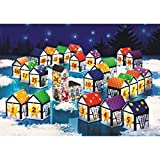WENKO 6432240500 Adventkalender Dorf - 24-teilig, zum Befüllen, Papier, Mehrfarbig