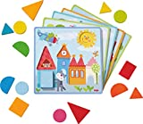 HABA 302949 - Zuordnungsspiel Tierische Abenteuer   Sortierspiel mit 5 Motivkarten und 15 Holzbausteinen in unterschiedlichen Formen und Farben   Spielzeug aus Holz und Pappe ab 18 Monaten