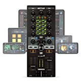 Reloop Mixtour – Portabler USB All-In-One DJ Controller mit integrietem Audio Interface, MIDI-Kompatibilität und Streamindiensten-Integration, (schwarz)