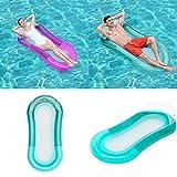 Cozywind Luftmatratze Wasserhängematte Hängematte Matratzen Wasseriege Klappbare Pool schwimmende Bett Wasser Sofa mit Kopfteil (grün)