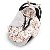 EliMeli Baby Einschlagdecke Babyschale Winter - Grau Braun Mädchen Junge Decke Universal für Autositz, Kinderwagen Buggys und Babybett, Premium Qualität - Design Minky Decke (Grau - Waldfreunde)