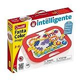 Quercetti 0900 - Mosaik-Steckspiel Fanta Color Design, 300 Stecker in 3 Größen (10,15,20mm)